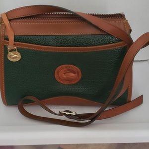 Vintage Dooney & Bourke green crossover purse